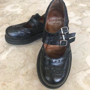 Vintage John Fluevog Leather Mary-Janes